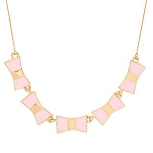 Light Pink Bow Shoppe Row Necklace